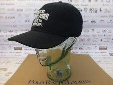 POLO RALPH LAUREN Fitted Cap Black ATHLETIC Hat Size Med Sport Caps BNWT RP£45