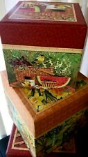 Set 3 LEGACY Square Nesting Box STILL LIFE design - for collections. pictures