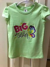 Girls Shirt Big Sister Size 4 Birthday Gift Embroidered