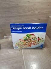 Perspex Acrylic Plastic Kitchen Cook Recipe Book Holder Stand - Splash Proof
