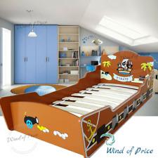 Toddler Bed Frame Furniture Kids Boys S Wood Pirate Headboard Design Junior