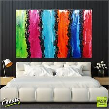 Modern Abstract Art Textured Canvas Colourful Painting 160cm x 100cm - Franko
