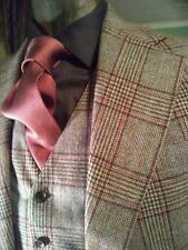 Mens Vtg Nyc 1970's Studio 54, Bold Plaid Flannel 3 Piece Suit. @the Copa Cabana