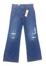 NEW Levis Women's Vintage Wide Leg Blue Jeans  Distressed Destroyed Sz 29 32x33