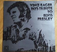 VINCE EAGER PAYS TRIBUTE TO ELVIS PRESLEY RARE ALBUM AUTOGRAPHED ROCKABILLY LP