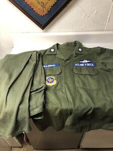 Vietnam War Named Sateen Uniform Shirt Pants Combat Pilot DSC Recipient USAF