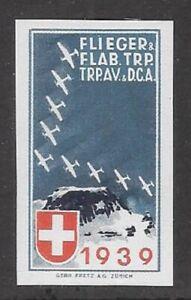"""Switzerland """"Soldier"""" stamp: Flieger Air Force, FLI #9: Flieger & Flap - sw191u"""