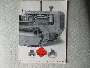 CAT Caterpillar D2 tractor brochure - INCOMPLETE