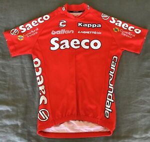 Vintage Saeco Cannondale Kappa Mens Size Small Pro Cycling Jersey