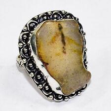 Solar Agate Gemstone 925 Silver Jewelry Ring 9