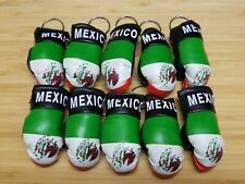Lot of 10 Mexican Keychains Mini boxing gloves key chain ring flag
