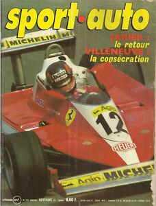 SPORT AUTO 202 1978 F1 GP USA GP CANADA MERCEDES 450 SLC 5.0 TOUR AUTO SAN REMO