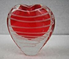 Red Heart Art Glass Bud Vase Romantic Valentine Love  Paperweight  AVON