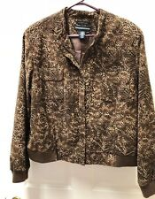 Norton McNaughton Stretch Women's Leopard Print Jacket  - Zip Front - Size 18
