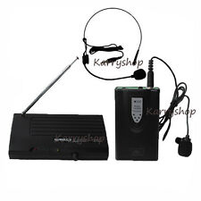 NEW Pro WIRELESS Lapel Headset MICROPHONE SYSTEM Set For Public Speaking Singing