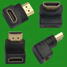 90 Degree, Right Angled HDMI Male to Female Cable Coupler Adaptor, HDTV LCD LED
