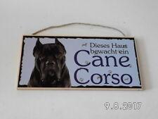 Türschild Cane Corso, Tierschild Hund aus Holz, Holzschild, deutsche Herstellung