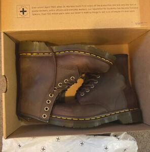 Dr. Martens - 1460 Gaucho Crazy Horse Leather Lace Up Boots - US 4 Women / 5 Men