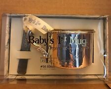 Baby's 1st Mug,Cup,Christmas,Ornament,Silver Plated,Department 56,Boxed,N