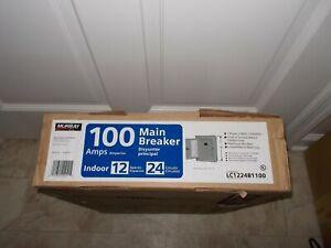 Murray LC1224B1100 Load Center, 12 Spaces, 24 Circuits, 100 Amp, Main Breaker