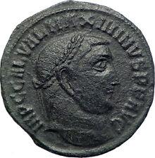 MAXIMINUS II Daia 308AD Authentic Ancient Roman Coin GENIUS Protection i73644