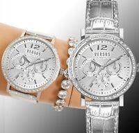 Versus Versace Damen Uhr  VSPOR2019 MANHASSET Swarovski CrystaI IP Silber neu