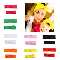 Women Kids Baby Cute Elastic Bow Knotted Turban Hair Band Accessories Headwear
