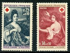 STAMP / TIMBRE FRANCE NEUF  N° 1580/1581** CROIX ROUGE LE PRINTEMPS ET AUTOMNE