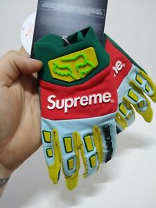 Supreme Honda Fox Racing Gloves Moss Green Size Medium Free Shipping