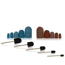 Schleifkappen + 1 Träger Fußpflege Schleifhülsen Schleifbänder Nagelfräser