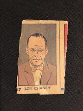 1926 W-512 #27 LON CHANEY Strip Card Actor Silent Movie Star Hand Cut
