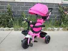 4 in 1 Dreirad Kinderwagen Tricycle für Kinder  Pink