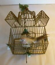 Vintage Metal Bird Cage Hanging Home Decor with Bird