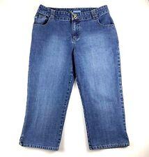 Duck Head Womens Classic Jeans Size 12 Crop Capri Medium Wash