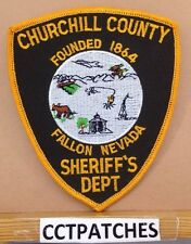 CHURCHILL COUNTY FALLON, NEVADA SHERIFF (ORANGE) POLICE SHOULDER PATCH NV