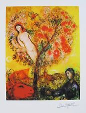 MARC CHAGALL Facsimile Signed Limited Edition Art Giclee TREE OVER VILLAGE