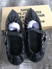 •••$695.00 ZUCCA Babouche Mary Jane Flats NWT Black Size M (US 6 - 7)•••