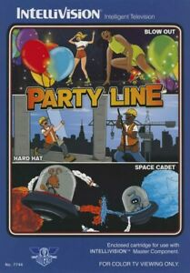 Party Line for Intellivision Game, Blue Sky Rangers Edition, NIS