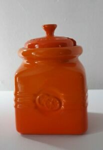 Le Creuset Jam Marmalade Preserve Pot In Volcanic Orange- Vgc- Rare