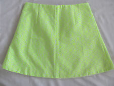J.Crew A-Line Short Skirt - Floral Jacquard in Neon Yellow -Size 10 NWT $78