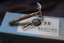 Ancien Rasoir de Sûreté LERESCHE Monture 901 Neuf d'époque NOS Made in France