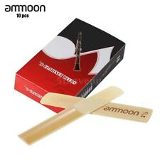 ammoon 10 Pieces Strength 2.5 Bamboo Reeds for Bb Clarinet Accessories NEW B5W1