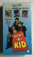 Rent-A-Kid 1995 Movie VHS Tape Christopher Lloyd Leslie Nielsen and Matt McCoy
