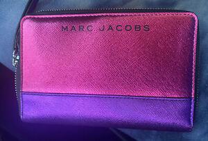 Marc Jacobs Metallic Fuschia Wallet NWT