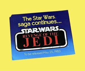 Kenner Star Wars Revenge Of The Jedi Vintage Action Figure Toy Flyer Rare 1983