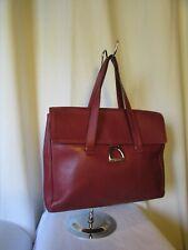 sac vintage lancel cuir rouge cerise