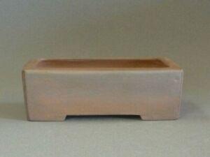 Tokoname Bonsai Pot Handmade Reihou Rectangle Brown TOKONAME 158*126*51mm T4736