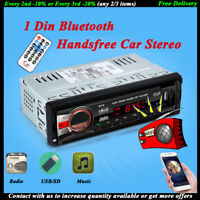 1Din Bluetooth Car Radio Stereo Handsfree SD/AUX In-dash FM MP3 Player Head Unit