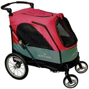 PETSTRO Stroller SILVER WING 705GX-DR Rot   Buggy Wagen Show Ausstell. Poussette