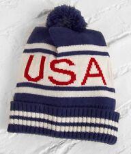 WOMENS STEVE MADDEN USA BEANIE POM HAT TOQUE  SNOW SKI NEW $29